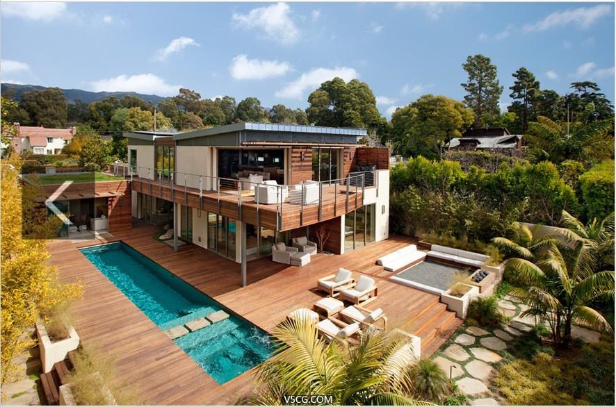 精选87种不同风格的国外别墅设计参考