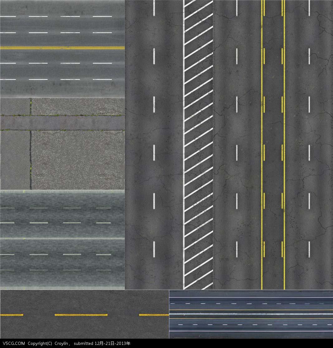 各种马路路面贴图